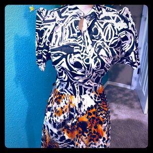 NWOT DVF Steel Wrap cotton dress size 10